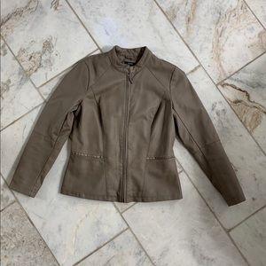 Alfina Faux Leather Jacket Blazer
